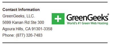 Green Geeks Support Info