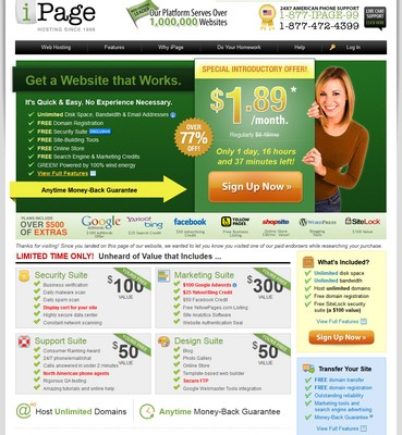 Ipage website review