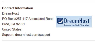 DreamHost Contact