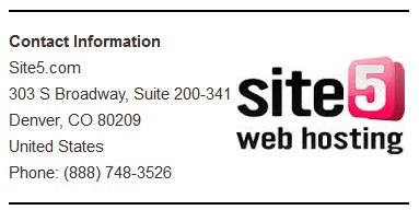 Site5 Support Info